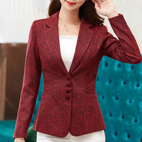 High Quality 2019 Autumn Spring Women Blazer Feminino Elegant Fashion Lady Blazers Coat Suits Female Big Size Jacket Suit S 4xl