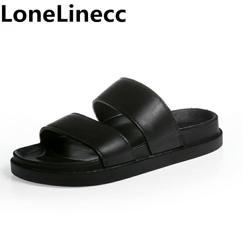 גברים יוניסקס בתוספת גודל גברים כפכפים כפכפים חוף נעל דירות פלטפורמת שקופיות נעלי גברים Zapatos Hombre נעליים יומיומיות