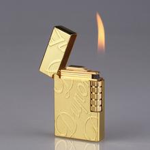 Ping dźwięk zapalniczki zapalniczki kreatywne mężczyźni Metal gaz nadmuchiwane butan płomień zapalniczki najlepszy prezent tanie tanio Drillin Lakier L-001 china