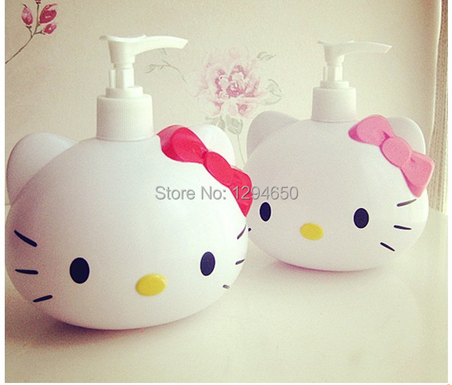Superior Free Shipping Kawaii Hello Kitty Squeeze Bottle Lotion Bottle Shower Gel  Container Portable Soap Dispenser Wholesale
