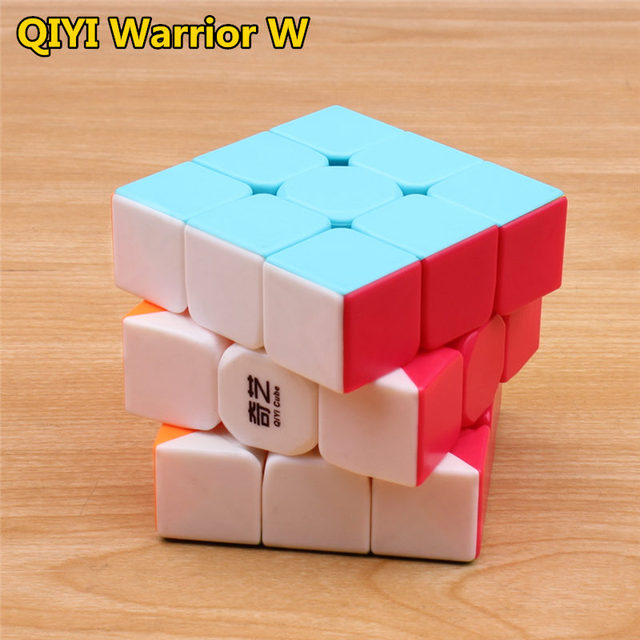 qiyi warrior s Magic Cube Colorful stickerless speed cube antistress 3x3x3 Learning&Educational Puzzle Cubes Toys