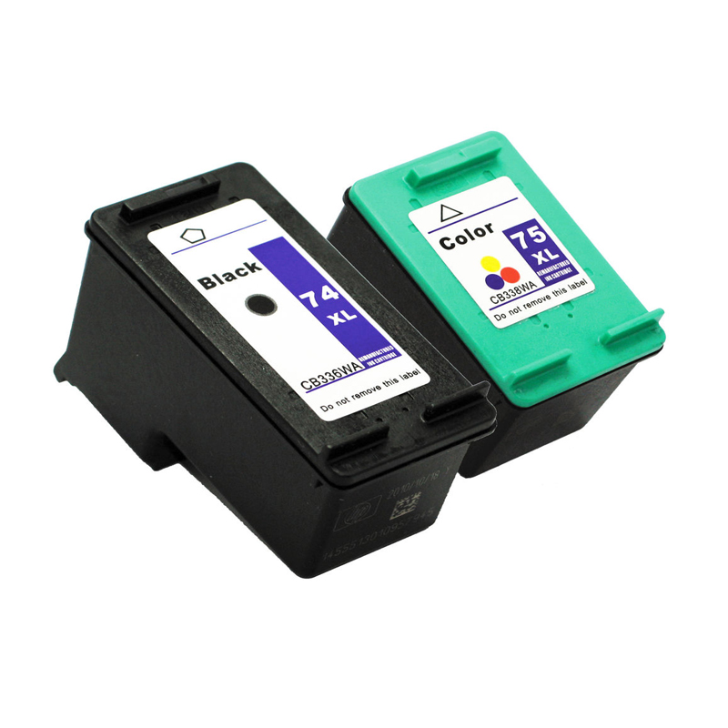 Einkshop 74 75 XL Blekkpatron erstatning for HP 74 75 XL For hk Photosmart C4200 C4280 C4345 C4380 C4385 C4480 J5780 J6480