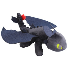 YINGELON 25CM Funny How To Train The Dragon Black Toothless Plush Toys For Children Birthday Gifts Stuffed Soft Dolls Animal Toy