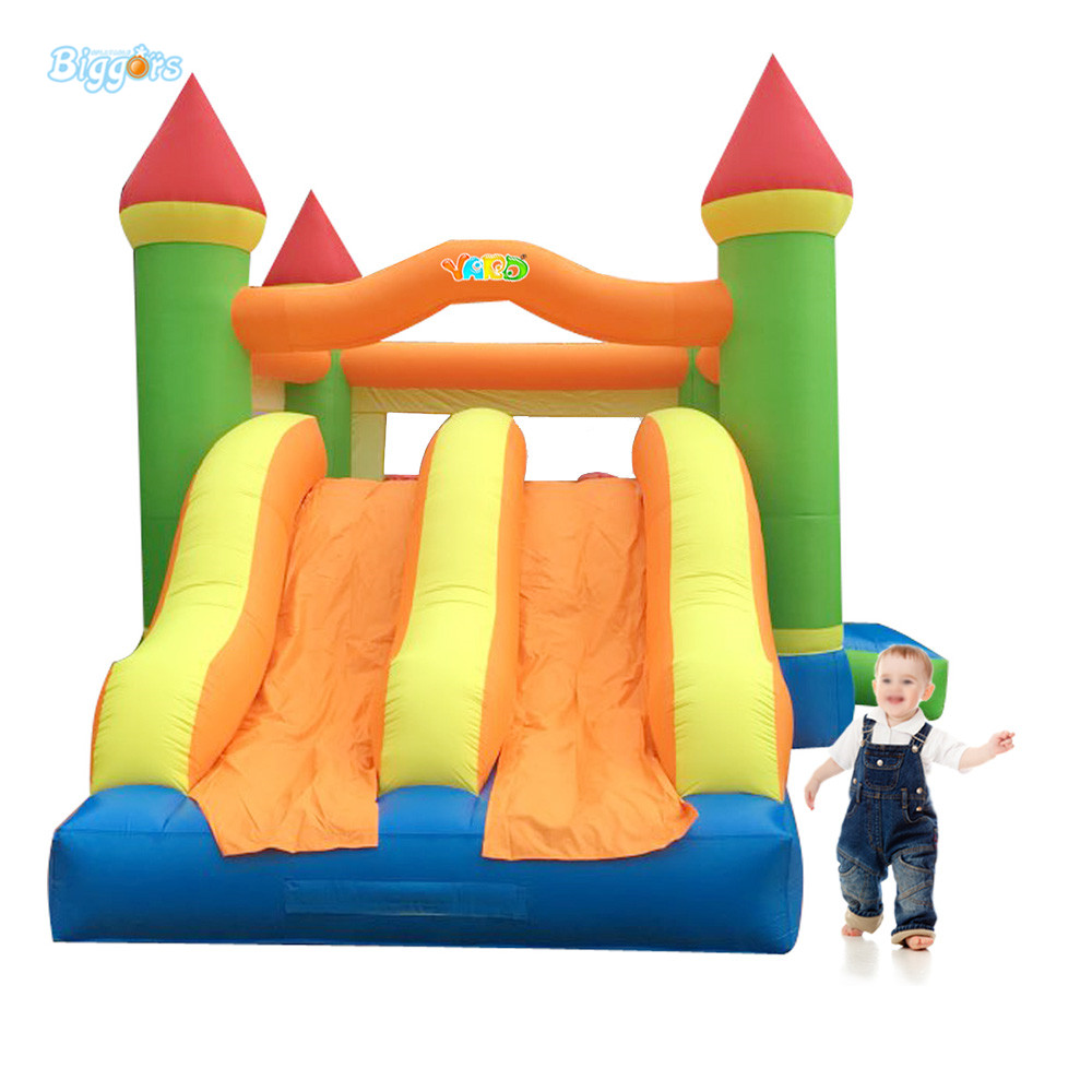 Dual Slide Bouncy Castle Inflatable Bouncer Jumping Bounce House Inflatable Trampoline with Slide for Residential Use