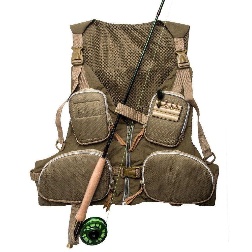 ФОТО New Handy Adjustable Fly Fishing Vest Mutil-Pocket Outdoor Waistcoat, Army Green