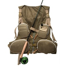 Strong-Toyers Brand New Handy Adjustable Fly Fishing Vest Mutil-Pocket Outdoor Waistcoat Army Green + Free shipping!
