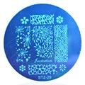 1 шт. Мода DIY Nail Art Шаблона Nail Art Изображение Штамповка Стальных Пластин 5.5 см Маникюр Шаблон # STZA29
