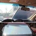 2016 Venta Caliente Universal Rodillo Cortina Persiana De La Ventana Del Coche Auto Del Coche Parasol Protección UV Plata 50x125 cm