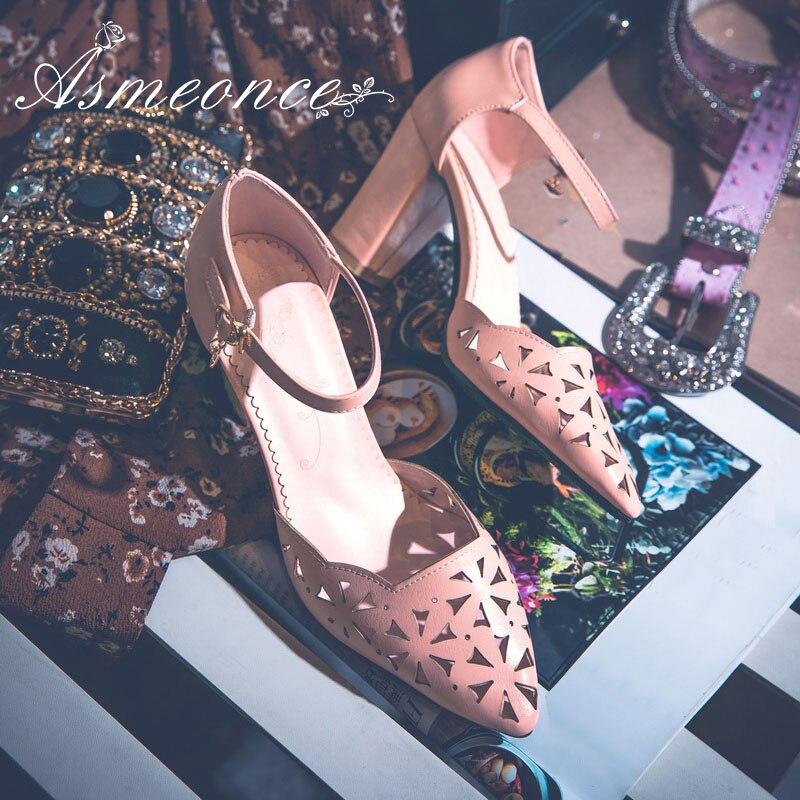 5c5a24de21cf39 Femmes Cuir Pink apricot Talons Femme Pointu Grande white Coeur Sandales  Été Taille Escarpins Fleurs D'orsay Chaussures Creux Hauts Sexy ...