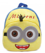 Lovely Cartoon Minions plush backpack children Minion school bags Despicable Me minions bag for 0 3years