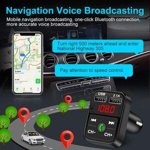 Image 4 - سيارة عدة بلوتوث يدوي لاسلكي FM الارسال TF بطاقة LCD مشغل MP3 شاحن USB مزدوج اكسسوارات السيارات شاحن الهاتف 2.1A