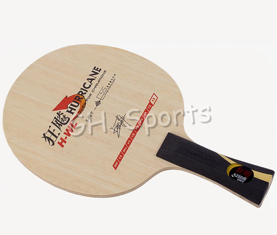 Genuine DHS H-WL wang liqin table tennis blade for ping pong racket 5 pure wood national racquet sports quick attack loop wang chun 9x3 5 5