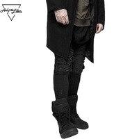 Eden Aelfric Buraco Venda Quente Slim Fit Locomotiva Jeans Harajuku Hip Hop Rap Moda Jeans Men Multi-código Sete Tamanho Motociclista calças
