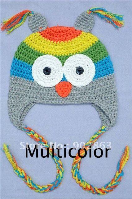 Cartoon Designs 100 Cotton Handmade Animal Hat Crochet Owl Hat