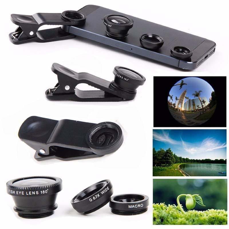 5in1 Stativ mit 3in1 Objektiv Fisheye 0,67x breit Makroobjektiv 12x - Handy-Zubehör und Ersatzteile - Foto 5