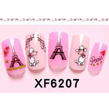 Flazea New 1 Sheet 3D Nail Art Stickers With Back Adhesive For Polish Printing Manicure Creative Decals