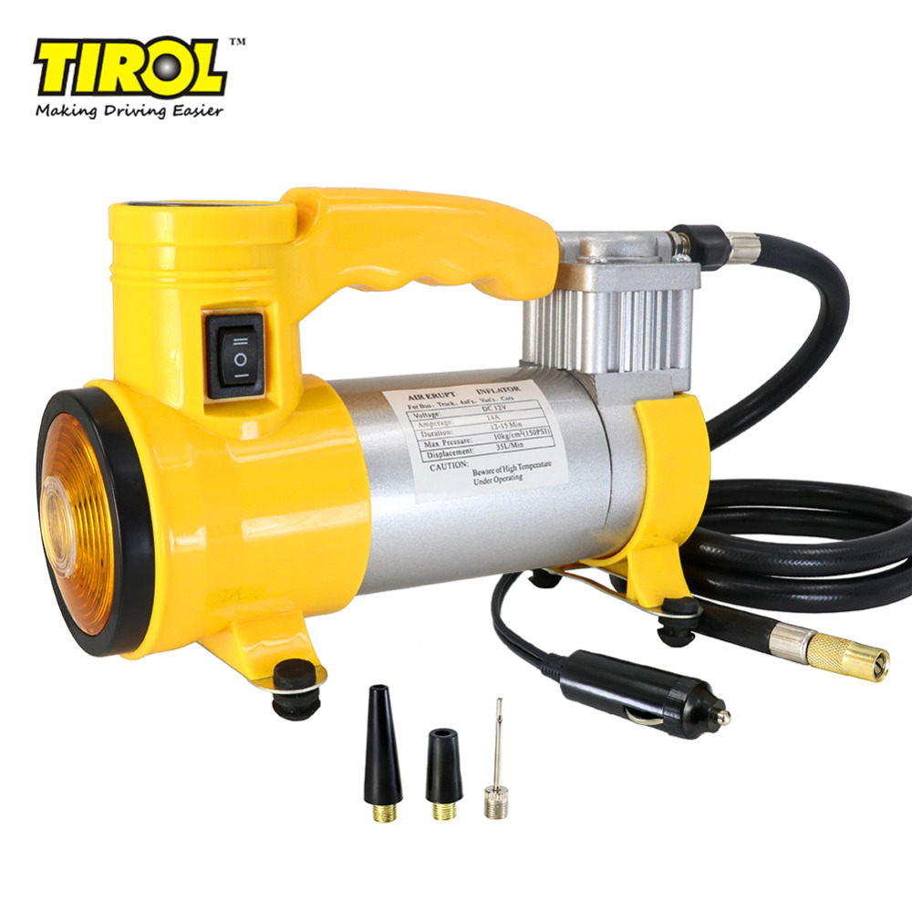 Tirol t10705b portable super flow 12v150psi car air pump for Can i use motor oil in my air compressor