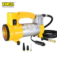 TIROL T10705b Portable Super Flow 12V150PSI Car Air Pump Air Compressor with light and beacon / Auto Tire Inflator