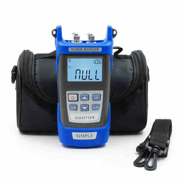 Handheld OTDR tester 1310 ou 1550nm 60 KM Fibra De encontrar a falha detector de falhas de Fibra SGOT04 breakpoint com VFL FC/SC Conector POR DHL