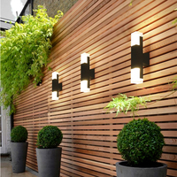 5W/10W LED Wall Light Outdoor Waterproof IP65 Porch Garden Wall Lamp Home Sconce Indoor Aluminum Decor Lighting Lamp AC90 260V