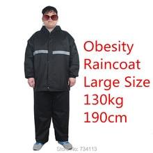 Big szie Professional raincoats 5XL size plus+ 6XL large size raincoats 130kg 280pounds Large waistline raincoat suit bigmen