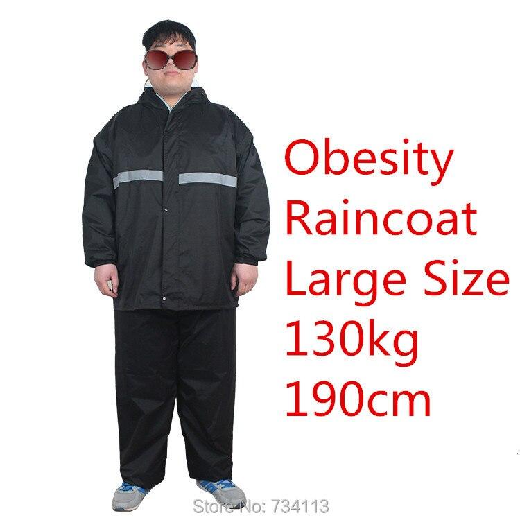 Big szie Professional raincoats 5XL size plus + XXXXXL large size raincoats 130kg rain coat Large waistline raincoat suit