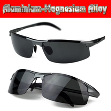 Aluminium titanium magnesium alloy battle field style polarized UV400 UV100% mens sunglasse