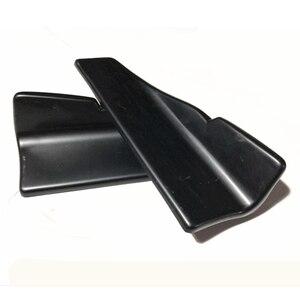 Image 2 - 2 pièces voiture lèvre arrière côté jupe pare chocs Spoiler arrière lèvre Angle séparateur diffuseur Anti crash modifié diviseurs diffuseur Winglet
