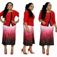 Новинка 2019 элегантное модное платье в африканском стиле для