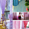 200cm x 100cm 8 different Colors Tassel Silver Silk String Window Door Divider Sheer Curtains Valance support wholesale