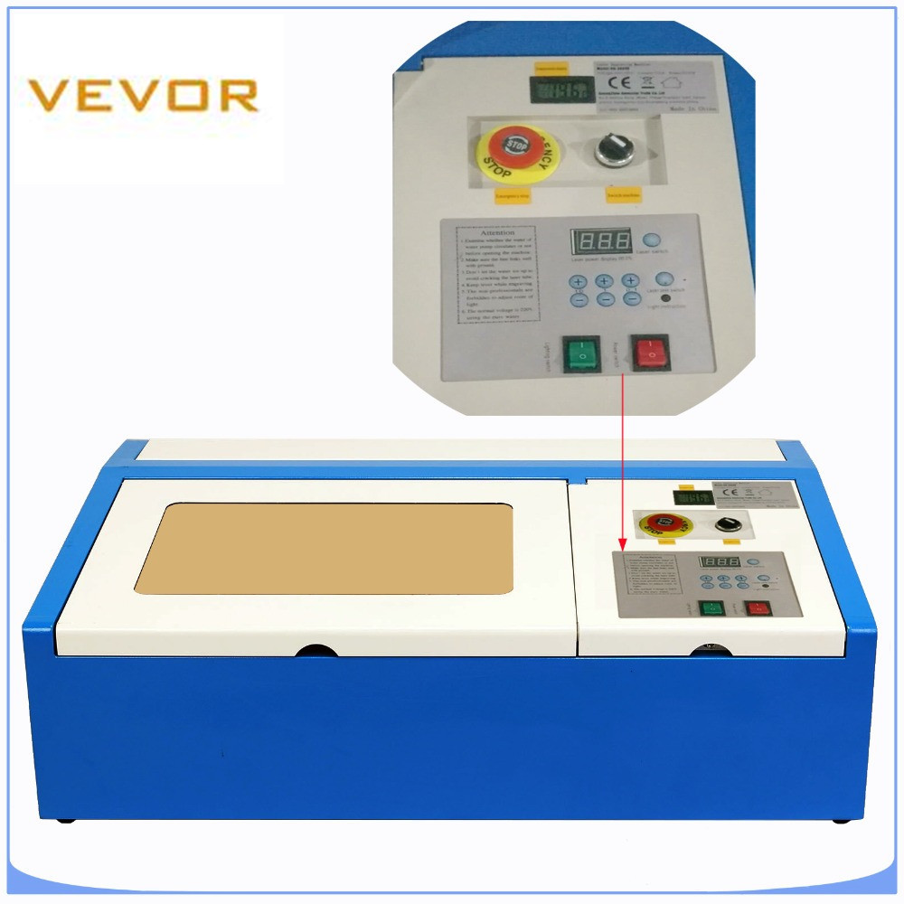 Laser Engraving Machine 40W Co2 Laser Engraver For Arts And Crafts With USB Port