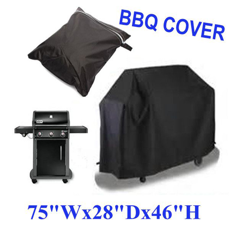 Black Waterproof BBQ Grill Barbeque Cover Outdoor Rain Grill Barbacoa Anti Dust Protector For Gas Charcoal