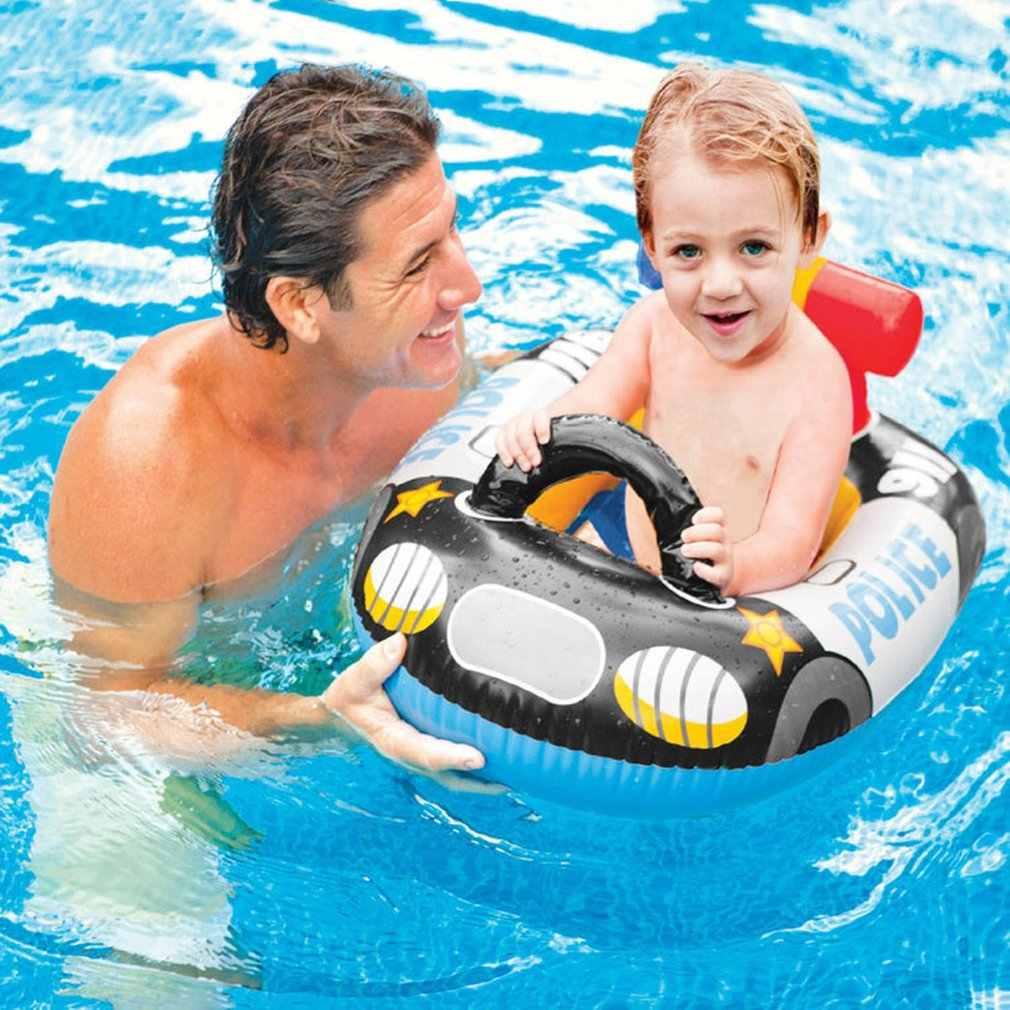 Дети плавать ming Laps кольцевое седло Лодка Игрушки для мальчиков девочек утолщенный ПВХ детский бассейн для купания водные виды спорта надувной круг сиденье Лодка кольцо