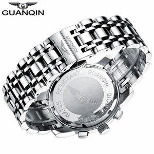 Image 3 - GUANQIN Relogio Masculino גברים שעון עסקי גברים יוקרה מותג קוורץ שעון גברים 19018 שעונים מלא נירוסטה שעוני יד,