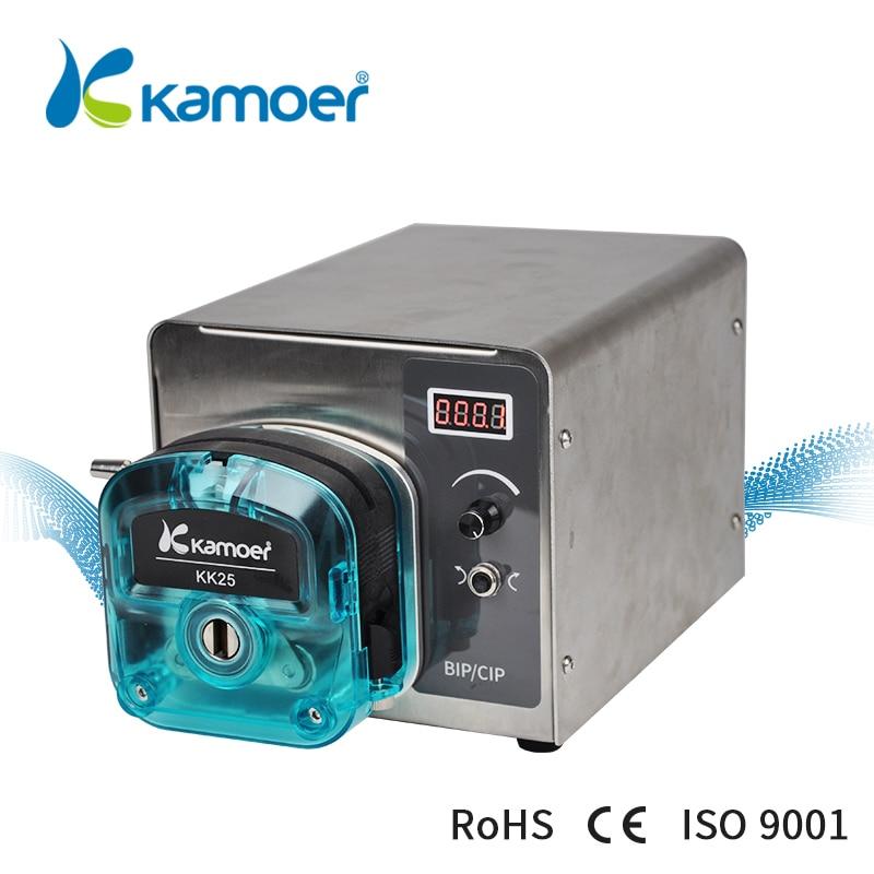 Kamoer 6L высокого потока интеллигентая (ый) BIP лабораторный насос светодиодный 4 разрядный цифровой трубы перистальтического насоса с выходной патрубок насоса