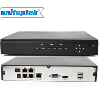 HD PoE NVR 4CH 1080P 960P 720P Onvif Surveillance Network Video Recorder For POE IP Camera