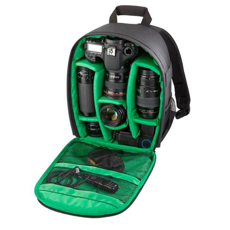2017 nouveau sac à dos pour appareil Photo DSLR sac pour appareil Photo insérer Nylon sac à dos souple pour Photo sac à dos + housse de pluie pour Nikon Sony Canon