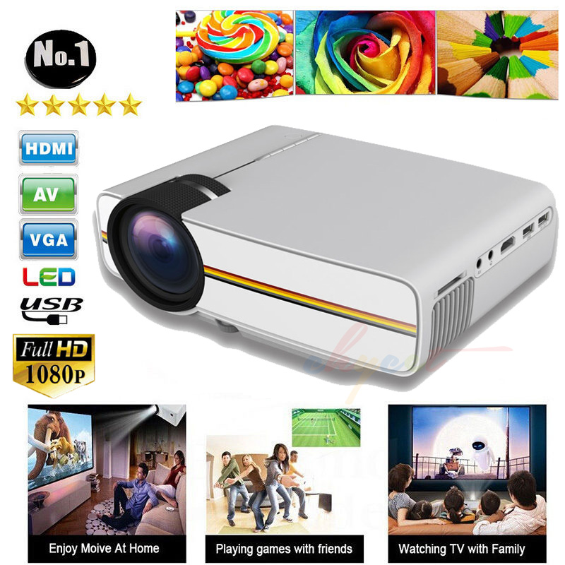 New YG400 LCD Portable Projector Multimedia Mini LED Projector home theater for font b Video b
