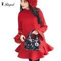 2017 Estilo Coreano Nueva Moda Mujer Blusas Invierno Cálido Grasa gran Tamaño Grande Abajo Gruesa Chaqueta de Lana Abrigos de Invierno de Las Mujeres escudo