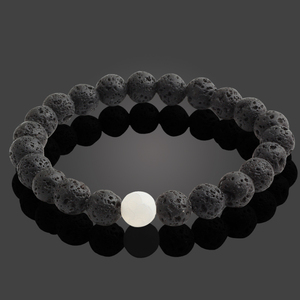 Черные браслеты с бусинами из натурального камня из лавы для женщин, Винтажный дизайн, вулканический камень, тигровый глаз, браслет из бисера, мужские ювелирные изделия, подарки