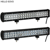 HELLO EOVO 5D 20 Inch 210W Curved LED Light Bar For Work Indicators Driving Offroad Boat