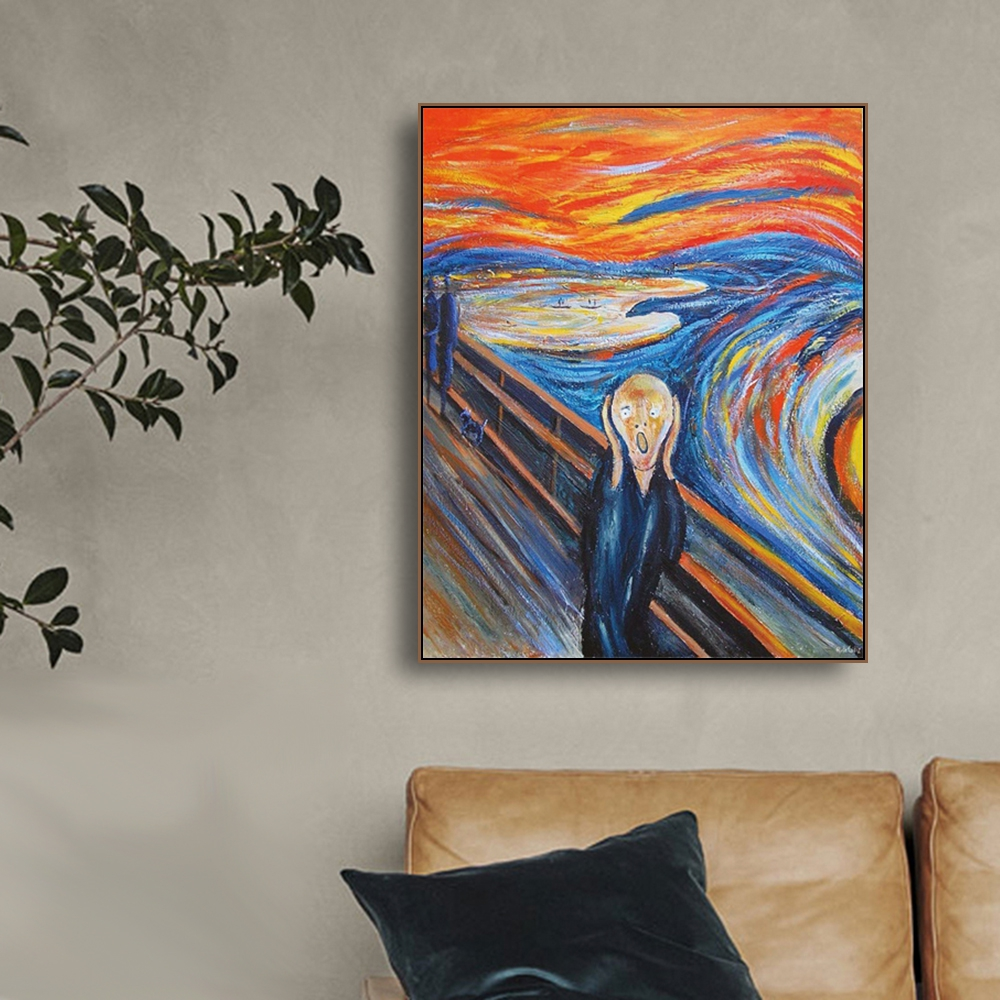 To Shout By Edvard Munch Famous Canvas Painting Art Print Poster Picture Wall Modern Minimalist Bedroom Living Room Decoration