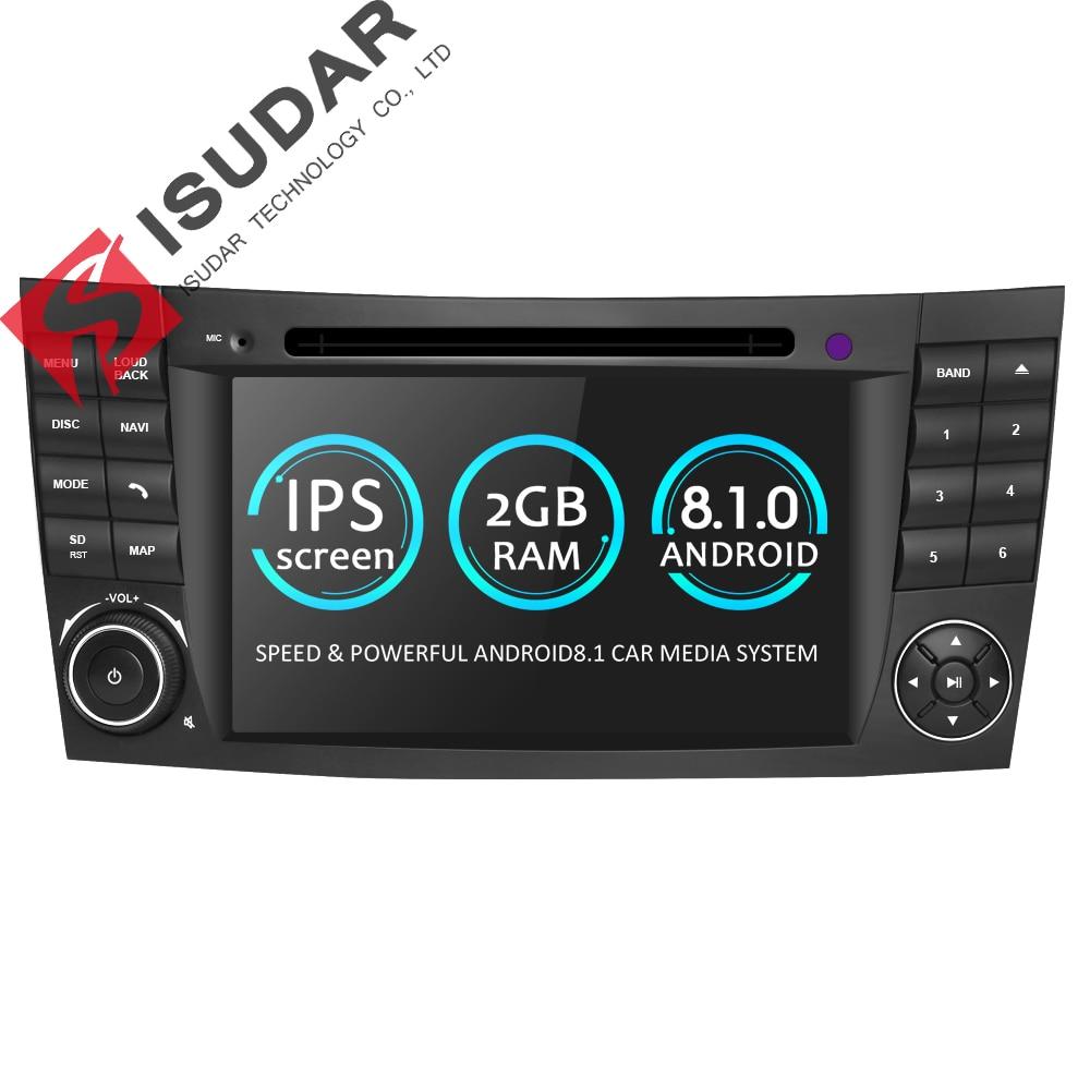 все цены на Isudar Car Multimedia player Android 8.1.0 GPS 2 Din DVD Automotivo For Mercedes/Benz/E-Class/W211/E200/E300/E350 4 Cores Radio онлайн