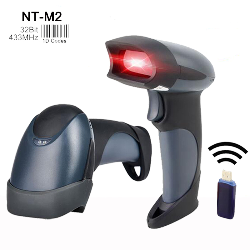 wholesale 433MHz handheld scanners wireless barcode reader high quality laser barcode sc ...