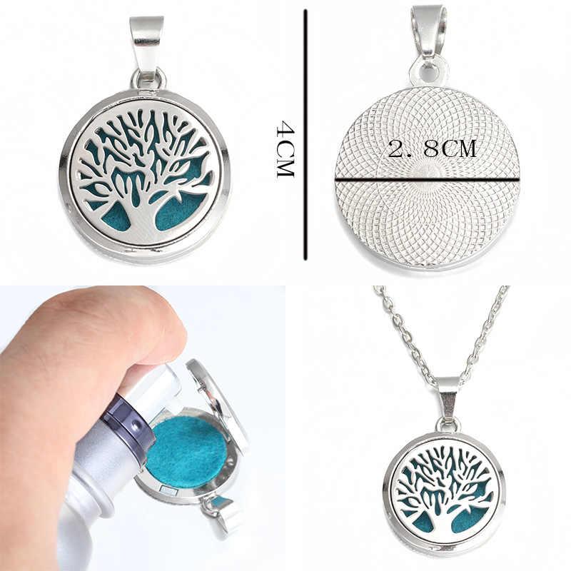 2019 nowy dłoni aromat medalion wisiorek ze stali nierdzewnej magnetyczny naszyjnik perfum OLEJEK ETERYCZNY dyfuzor aromaterapia medaliony biżuteria