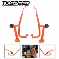 For KTM DUKE 390 2013 2014 2015 2016 Motorcycle Engine Protetive Guard Crash Bar Protector Orange DUKE390 duke