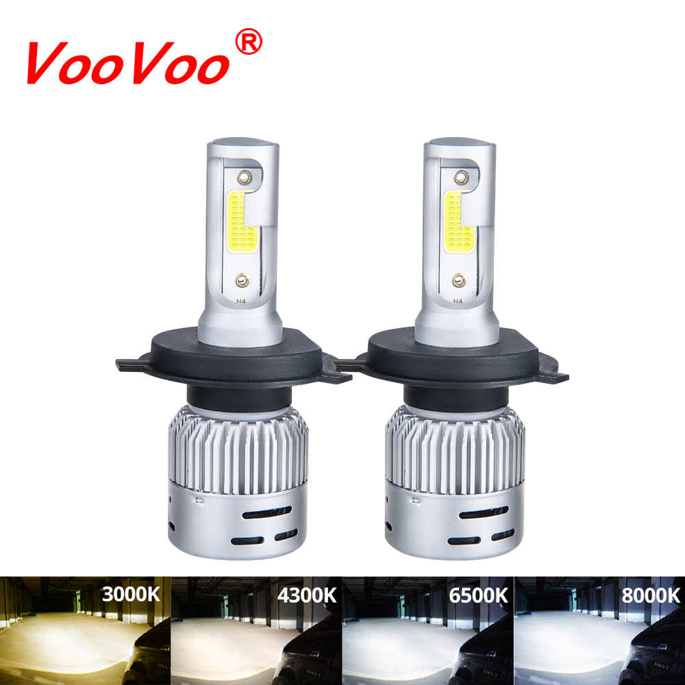 VooVooBombillo LED H4 H7 H11 H8 9006 HB4 H1 H3 HB3 Auto Mini Car Headlight 72W 8000LM Automobiles Car Styling 6500K 4300K