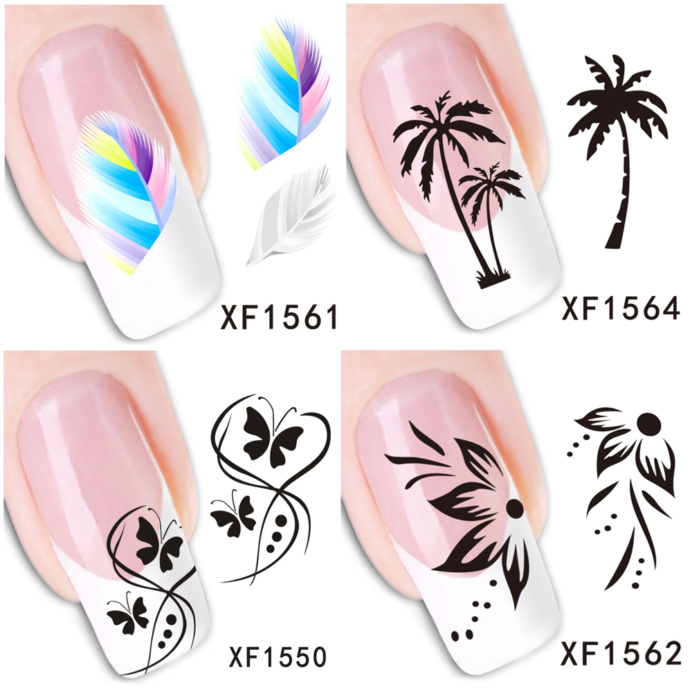 30 Styles! Fashion Nails Art Manicure Decals Cute Design Water Transfer Stickers For Nails Tips Beauty|stickers for nails|water transfer stickerstransfer sticker - AliExpress