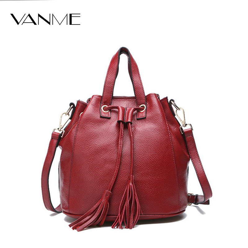 Super Quality Women Messenger Bags Bucket Ladies Retro Brand Genuine Leather Handbag Cross Body Bags Designer Tote Shoulder Bag high quality designer women leather handbag bucket shoulder bags ladies cross body bags large capacity ladies shopping bag bolsa