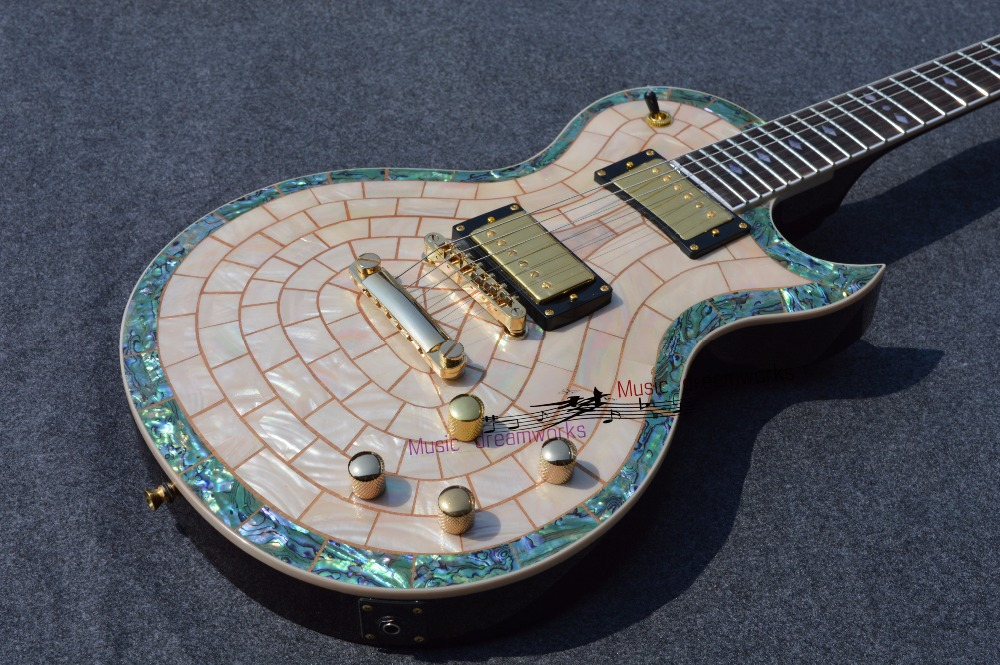 China's firehawk  guitar shop guitar Electric guitar, the real abalone shell inlay, can accept custom DIY.EMS free shipping цена и фото